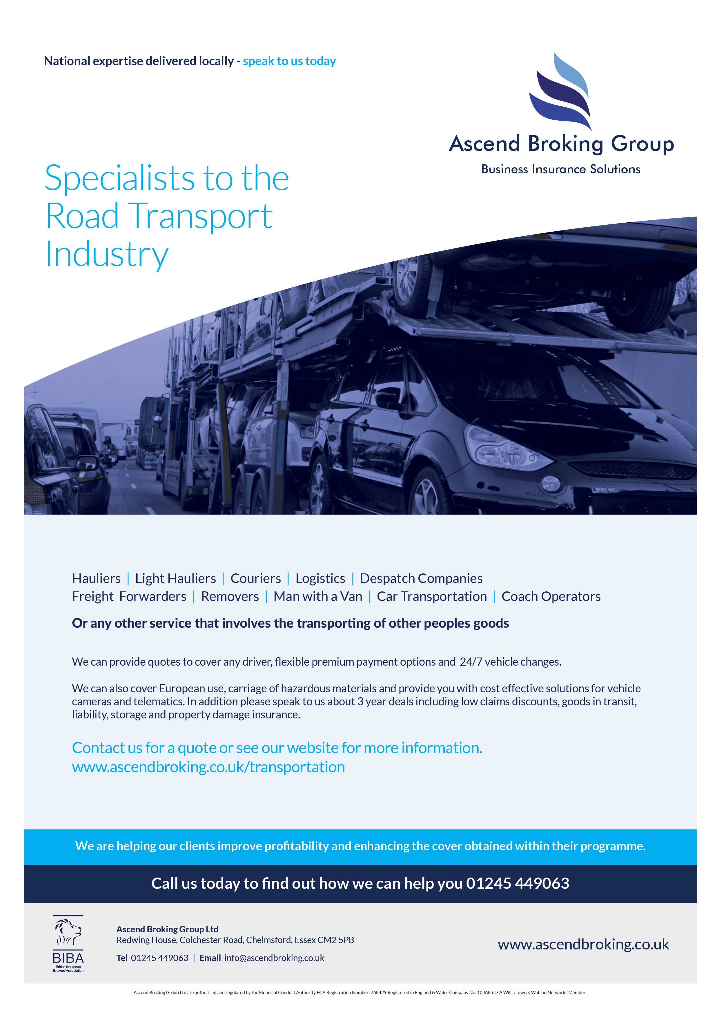 Specialists to the Road Transport Industry