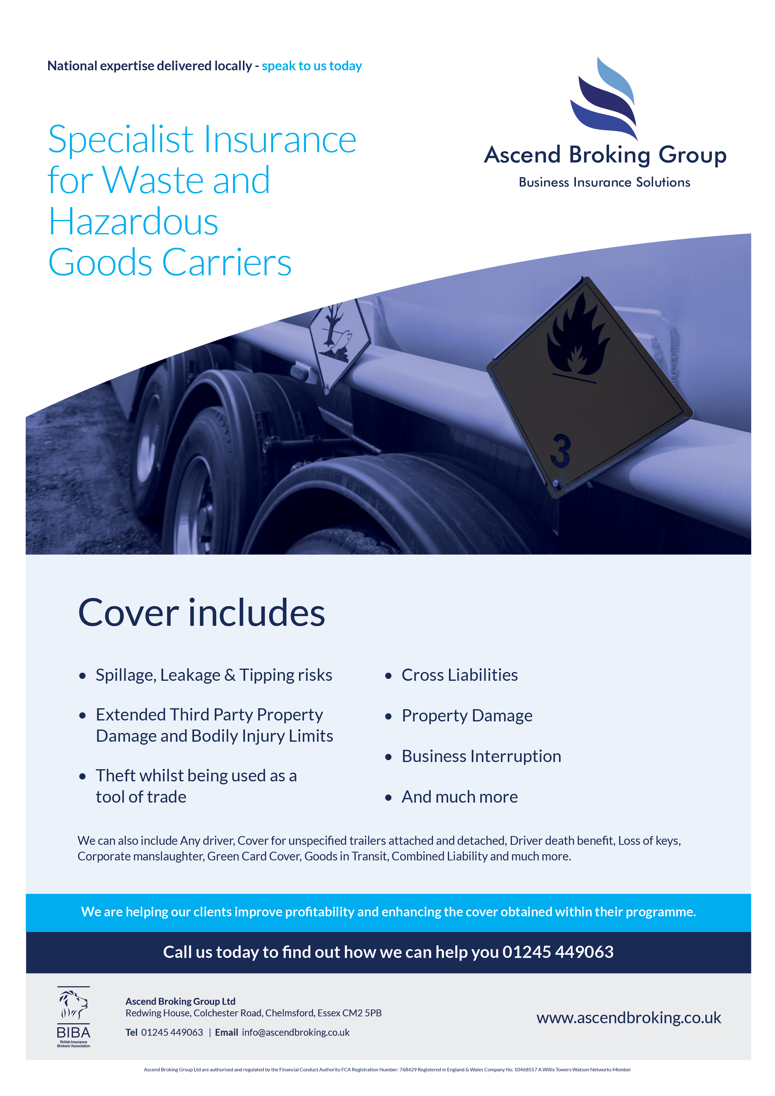 Specialist Insurance for Waste and Hazardous Goods Carriers